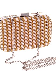 L.WEST®  Women's  Event/Party / Wedding / Evening Bag Weaving Delicate Handbag