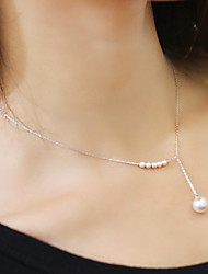 Necklace Choker Necklaces / Pearl Necklace Jewelry Wedding / Party / Daily / Casual Pearl / Alloy / Imitation Pearl Gold / Silver 1pc Gift