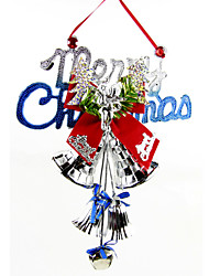 "Random Color 28*20CM/11*7.9"" Merry Christmas Decorations Hanging Doorknob Santa Claus Gift Xmas Tree Jingle Bell"