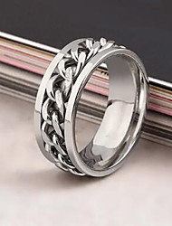 Rotating Chain Alloy Ring Statement Rings Daily / Casual 1pc