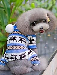 Winter - Bruin / Blauw / Roze / Grijs Fleece - Hoodies / Broeken - voor honden - XS / M / XL / S / L / XXL