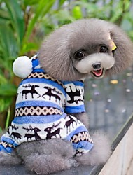 Hunde Kapuzenshirts / Hosen Blau / Braun / Rosa / Grau Winter Schneeflocke