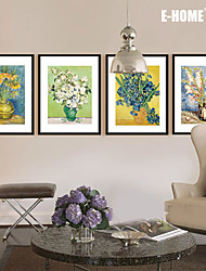 E-HOME® Framed Canvas Art, Flowers in The Vase  Framed Canvas Print One Pcs