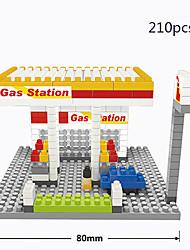 shell posto de gasolina blocos de construção de brinquedo diamante micro brinquedo quebra-cabeça Blocos crianças adulto yoy diy saco de