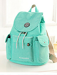 Women Nylon Backpack Purple / Blue / Green / Red / Black