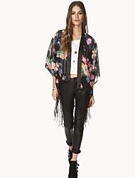Women's Floral Black Wrap(cotton)