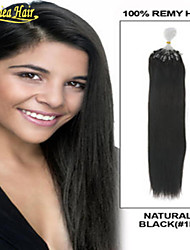 Loop Micro Ring Hair Extension Long Straight Indian Remy Hair No Tangling No Drying Cheap Price Human Hair Extension