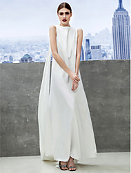 TS Couture Prom Formal Evening Dress - Celebrity Style Sheath / Column Bateau Ankle-length Chiffon with Pleats