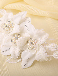 Bride's Flower Shape Imitation Pearl Forehead Wedding  Hair Combs Accessories 1 PC