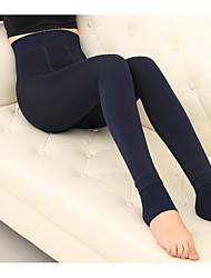 Femme Couleur Pleine Legging,Velours Coton Epais