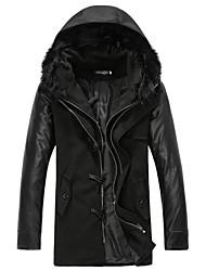 Men's Tweedd Regular Hoodie Coat