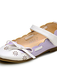 Girls' Shoes Wedding / Outdoor / Party &Casual Comfort / Round Toe / Closed Toe Leatherette Flats Pink / Purple / Red