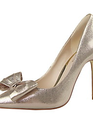 Women's Shoes Stiletto Heel Heels / Pointed Toe / Closed Toe Heels Dress Black / Pink / Red / Silver / Gray / Gold