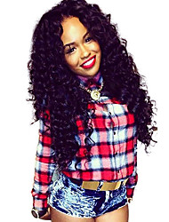 """Unprocessed 10""""-24""""Virgin Brazilian Hair Natural Color Curly 130% Density U Part Wig 1*4 Middle Part Curly Wigs"""