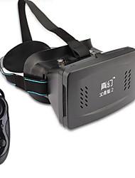 """vidros RITech ii realidade virtual 3D VR w disco / sucção para 3,5 ~ 6,0 """"telefones inteligentes - preto"""