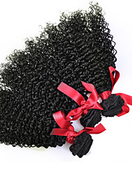 EVET Peruvian Curly Hair Weave Extensions Virgin Human Hair 3 Bundles Kinky Curly Hair Natural Color Free Shipping