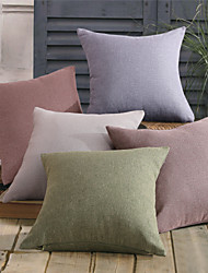 Faux Linen Pillow With Insert