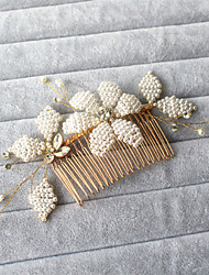 One Flower Beaded Petal Comb - Wedding / Special Occasion / Outdoor Headpiece 1 Piece