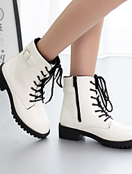 Women's Shoes Nappa Flat Snow Boots / Fashion Boots / Combat Boots / Oxfords Outdoor / Casual Black / White / Burgundy