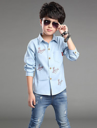 Boy's Fashion Cotton/Polyester/ Spring / Fall Long Sleeve Shirt