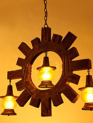 Antique Wood Chandelier American Country Iiving Room lamp lamp Restaurant