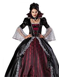 bourgogne sanguinaire vampire et noir deluxe-parole longueur Halloween Carnaval costumefor robe des femmes