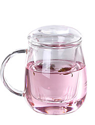 450ML Floral Tea Mug Lead Free Transparent Glass Cup w/ Filter And Lid Heatproof Office Home Leisure Drink Cups Tu