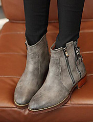 Women's Shoes Low Heel Combat Boots Boots Casual Black / Gray