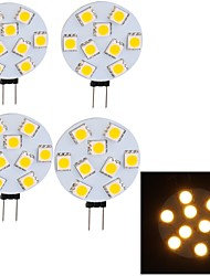 4W G4 Lampes LED sur rail G45 9 SMD 5050 380 lm Blanc Chaud Décorative 9-30 V 4 pièces