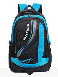 Women Denim Baguette Backpack - Blue / Green / Black
