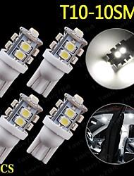 4 x super blanc t10 10-SMD LED ampoules intérieurs de voiture 194 2 825 921 168 161 912