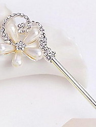 Exquisite Alloy Hair Sticks Bob Pearl Flower Hairpin in Party