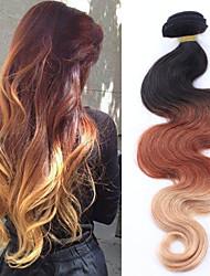 """3pcs / lot 8 """"-30"""" brasileño extensión brasileña del pelo de plata ombre pelo virginal ombre extensión del pelo de varios colores"""