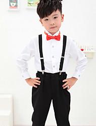 Комбинирование ткани (полиэфир/хлопчатник) Детский праздничный костюм - 4 Куски Включает в себяРубашка / Брюки / Галстук-бабочка /