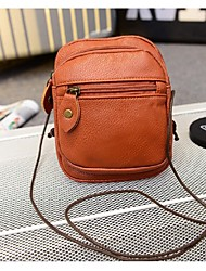 Women PU Casual Mobile Phone Bag - Brown