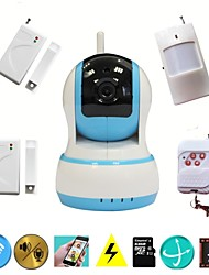 wifi cctv hd ip camera video inbraak alarm home security systeem met draadloze inbreker alarme sensor, babyfoon