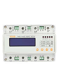 GHTS300 Din Rail 3-Phase Energy Meter Household Electric Meter Watt Hour Meter 3-Phase Meter Power Meter