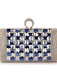 L.WEST®  Women's  Event/Party / Wedding / Evening Bag Diamonds Corrugated Diamonds Delicate Handbag