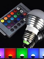 Energy saving E27 3W RGB LED Bulb Lamp light 16 Color changing + IR Remote