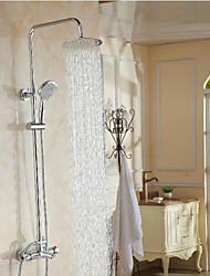 Bathroom 3 Function Shower Faucet.Chrome Finish Brass Made Shower Set.8 Inch Rain Shower Head Tub Mixer Faucet
