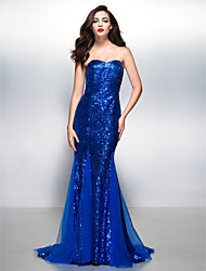 TS Couture Formal Evening Dress - Sparkle & Shine Trumpet / Mermaid Sweetheart Court Train Sequined with Sequins