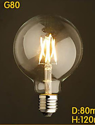 Décorative Ampoules Globe , E26/E27 4 W LED Intégrée LM Blanc Chaud / Jaune V