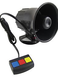 Scolour baru yang Universal 3 Tone Alarm mobil keamanan keras sirene tanduk 12 V DC panas