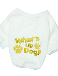 Gatos / Perros Camiseta Blanco Verano Flores / Botánica Moda, Dog Clothes / Dog Clothing-Other