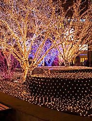 Lumière de Noël net des filets étanches barres lampes cascade de scintillement de décoration de mariage lumière étanche 3 * 2m 204led