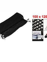 auto voiture nylon noir stockage de bagages élastique 100cm x 120cm net