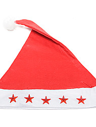 Flannelette Embroidered Christmas Hat with Light and Music