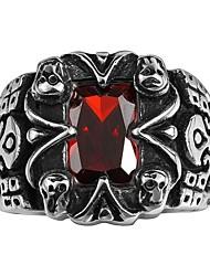 Ringe Kubikzirkonia Normal Schmuck Stahl Herren Ring 1 Stück,8 9 10 11 Schwarz