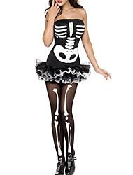 Chapeau Ange et Diable Fête / Célébration Déguisement Halloween Blanc & noir Robe Halloween / Carnaval Féminin Térylène / Boas et Plumes