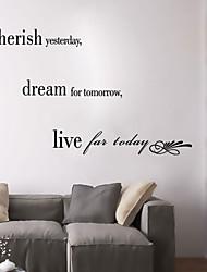 pegatinas de pared de pared de calcomanías aprecian las palabras inglesas últimos&cita pegatinas de pared del pvc